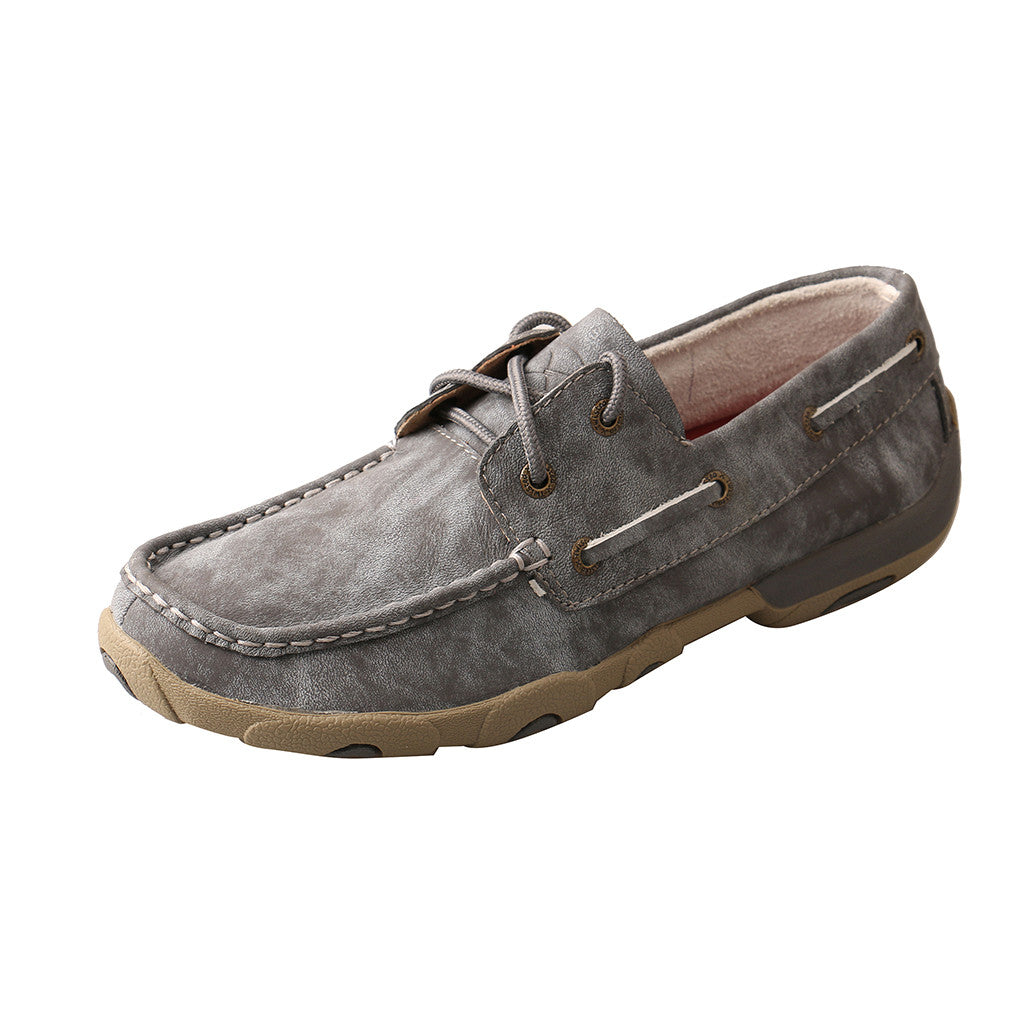 Twisted X Steal Grey Driving Moc