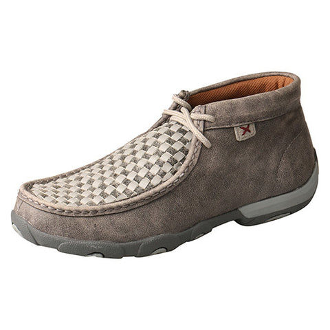 Twisted X Women's Grey Weave Driving Moc