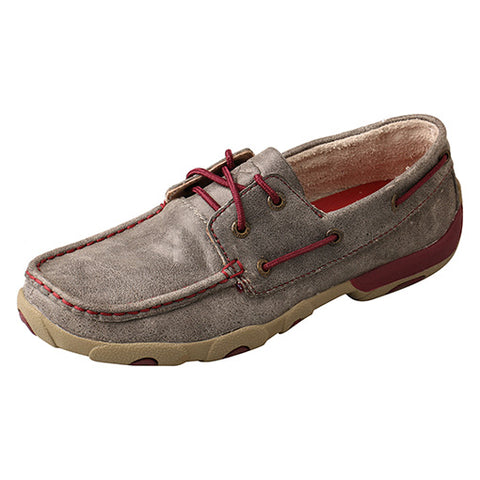 Twisted X Women's Grey and Berry Moc