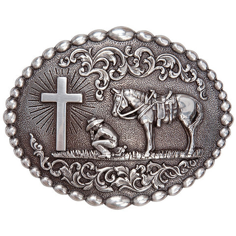 Praying Cowboy Belt Buckle