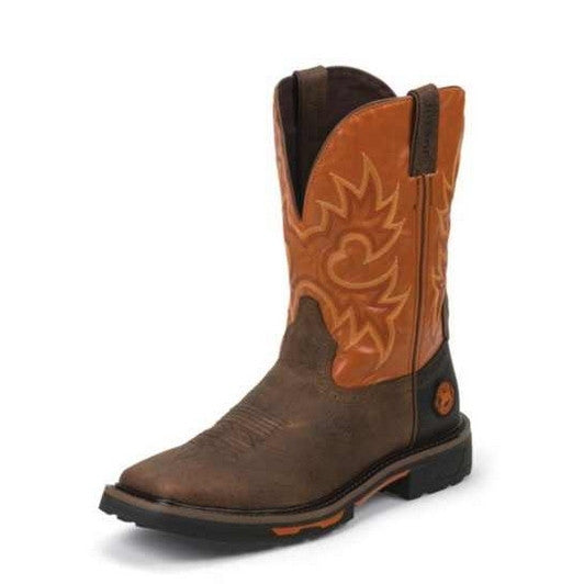 Justin Joist Rustic Brown Work Boot