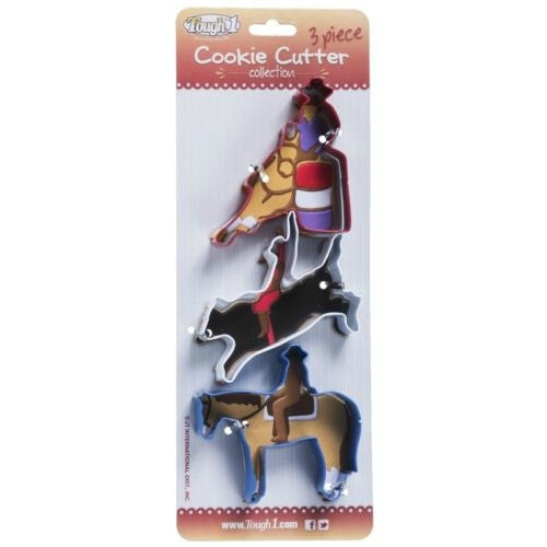 3 Piece Rodeo Cookie Cutter Set