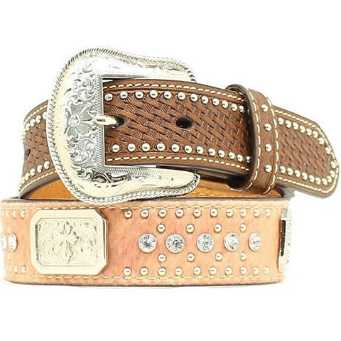 Kid's Crystal Hide Concho Belt