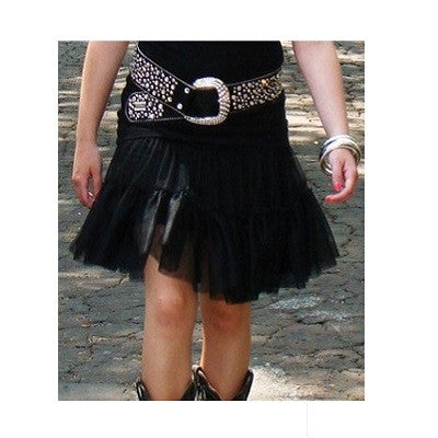 Cowgirl Justice Black Net Skirt