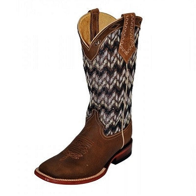Ferrini Brown Chevron Square Toe Boot