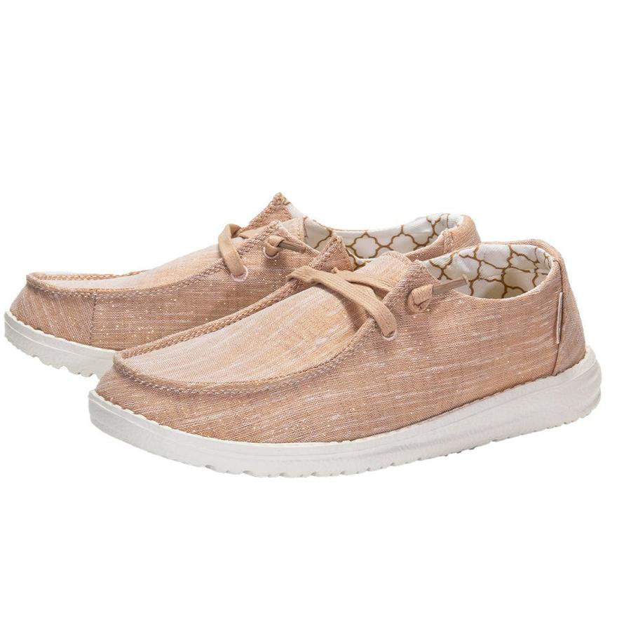 Heydude Women's Rose Gold Wendy Sparkling Casual