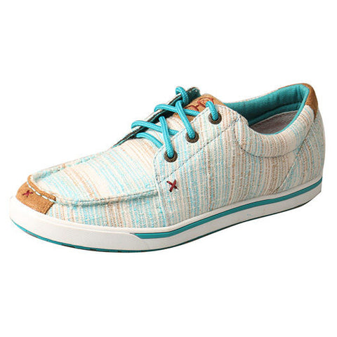 Twisted X Women's Blue Hooey Loper Shoe