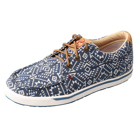 Hooey by Twisted X, Women's  Blue Tribal Graphic Canvas Shoe