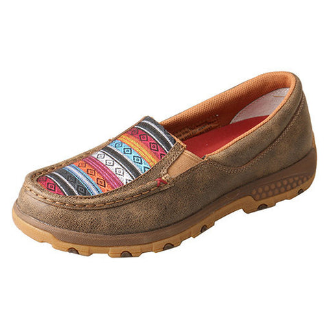 Twisted X Women's Aztec Cell Stretch Slip On Moc