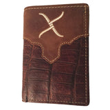 Twisted X Brown Gator Trifold Wallet