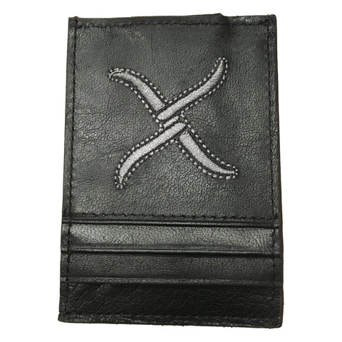 Twisted X Black and Silver Money Clip Wallet