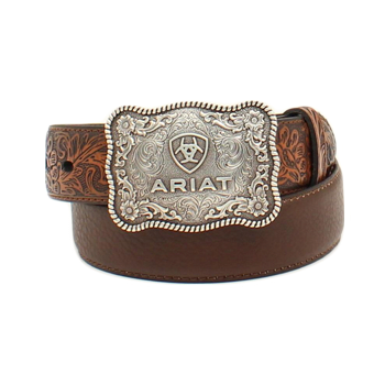 Arait Boy's Distressed Brown Belt