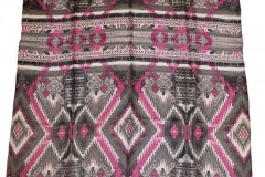 Wyoming Traders Silver and Pink Aztec Design Wild Rag