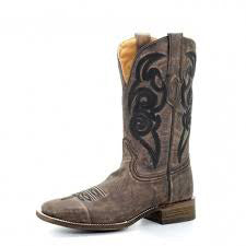 Corral Brown Embroider Square Toe Boot