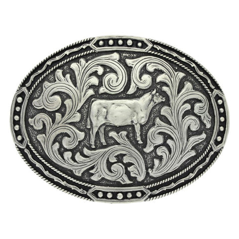 Montana Silver Antique Shoe Heifer Belt Buckle