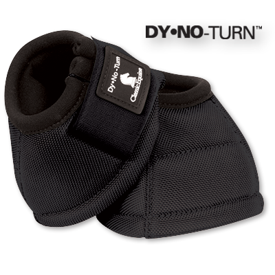 Black Classic Equine No-Turn Bell Boots