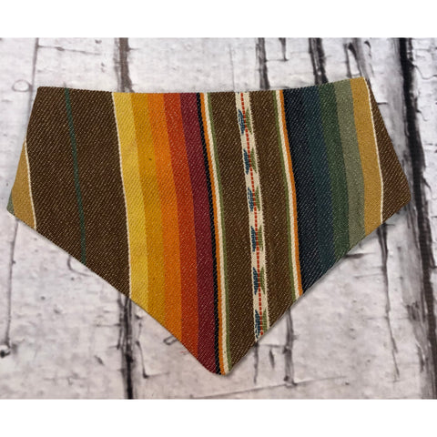 Selvedge Dry Goods Brown Serape Bandana Bib