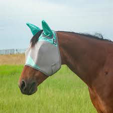Cashel Mint Fly Mask with Ears