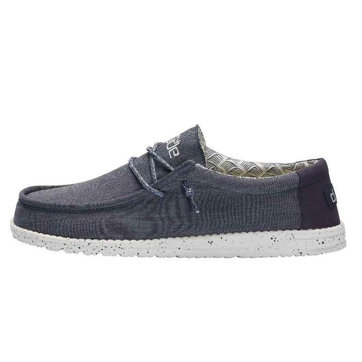 Wally Chambray Navy HeyDude