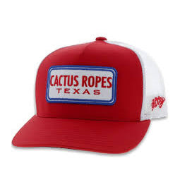 Hooey Cactus Ropes Red and White Youth Cap