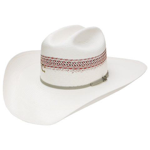 Charlie One Horse Ivory/Red Straw Hat
