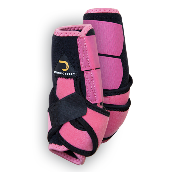 Dynamic Edge Black and Pink Sport Boots
