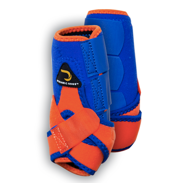 Orange and Royal Blue dynamic Edge Sport Boots