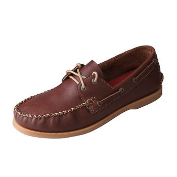 Twisted X Men's Rich Brown Leather Stitched Casual Shoe