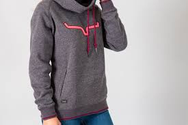Kimes Ranch Charcoal and Pink Horns Hoodie