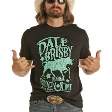 Dale Brisby Men's Original Black and Turquoise T Shirt
