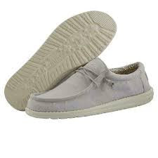 Men's Hey Dude Chambray Grey Wally Casual Shoe