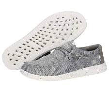 Men's Hey Dude Light Grey Wally Free Casual Shoe