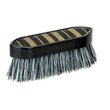 Black and Gold Striped Bling Brush
