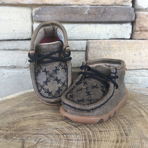 Western Edge Exclusive Twisted X Black Barbwire Infant Moc