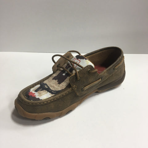 Twisted X Women's Canvas Steer Head Moc ~ WE Exclusive