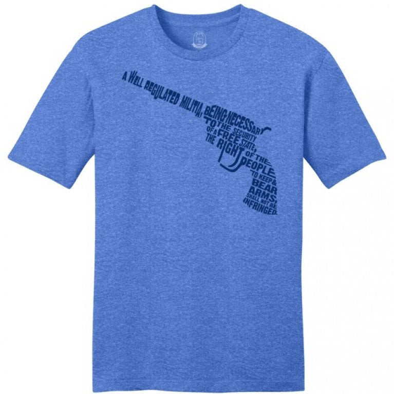 Men's Blue 2nd Amendment Tee