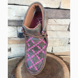 ~PRE SALE~ WE Exclusive Twisted X Kid's Brown and Pink Barbwire Driving Moc