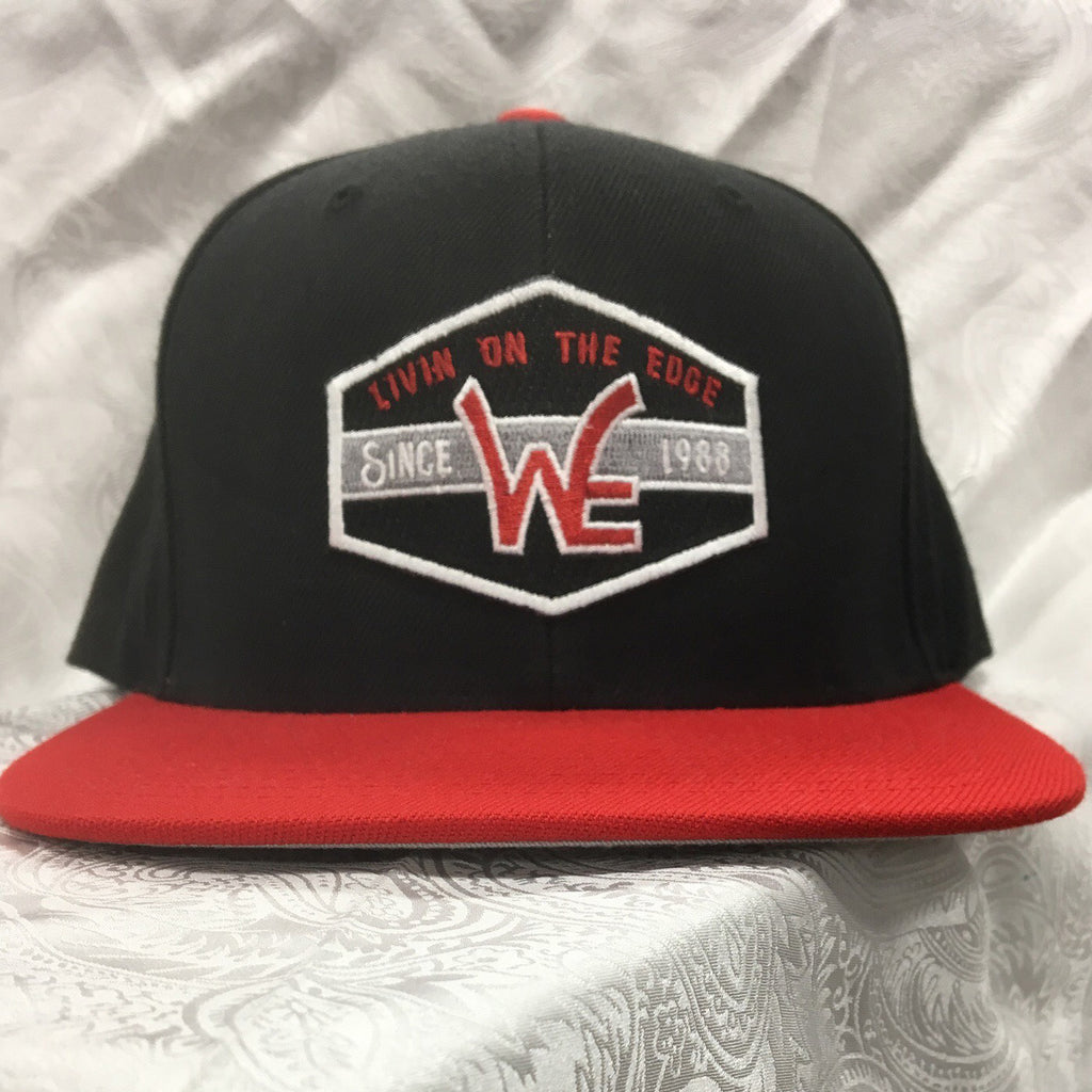 Western Edge Black and Red Logo Cap