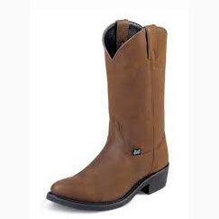 Justin Bay Trucking Round Toe Boot