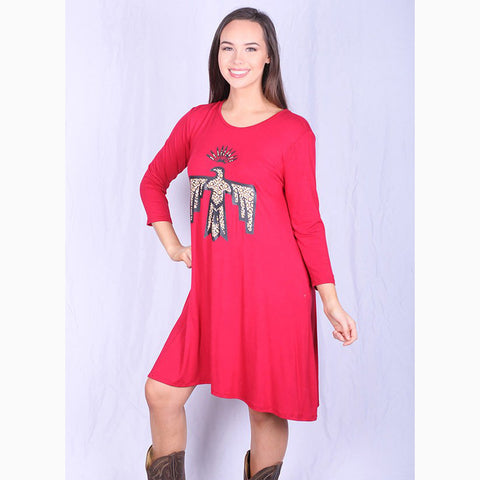 Women's Red Cheetah Thunderbird Dress