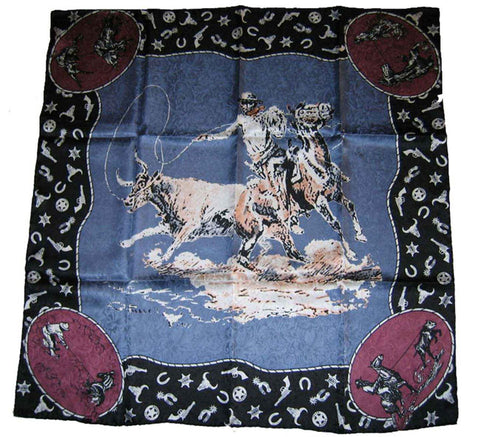 Wyoming Traders Limited Edition Russell Moss Slate Blue Wild Rag