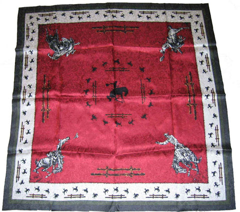 Wyoming Traders Limited Edition Burgundy Fences Wild Rag
