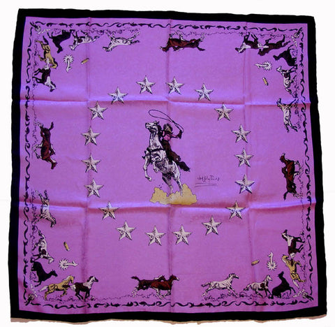 Wyoming Traders Limited Edition Clark Kelly Mustang Pink Wild Rag