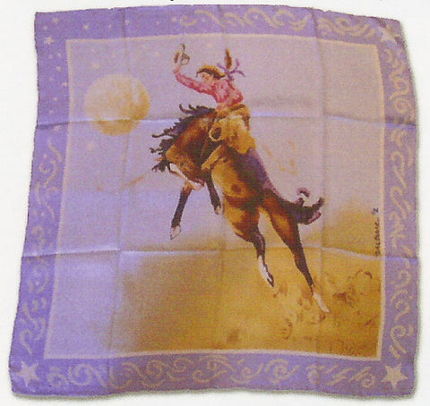 Wyoming Traders Limited Edition Teal Blake Blue Cowgirl Wild Rag