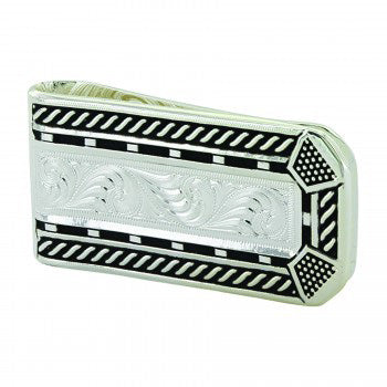 Montana Silver Men's Silver and Black Money Clip