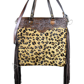American Darling Cheetah Tooled Handbag