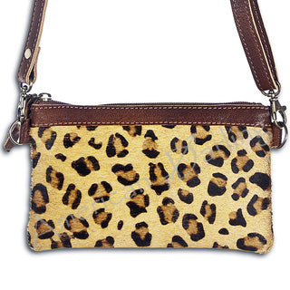 Women's Cheetah Zip Cross Body/Clutch