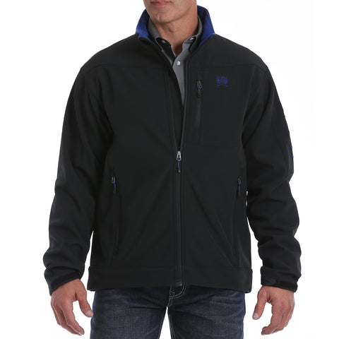 Men's Cinch Black with Blue Bonded Jacket