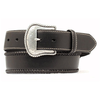 Nocona Men's Black Lace Edging Belt