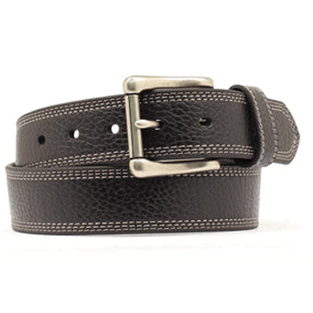 Men's Black Triple Stitched Belt